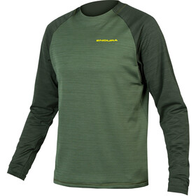 Endura SingleTrack Longsleeve Fleece Jersey Heren, groen